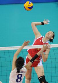 中国女排3-0轻取小组赛三连胜对手两局不过10分
