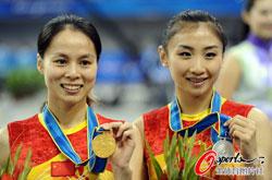 中国包揽蹦床男女金银牌何雯娜摘银大姐大卫冕