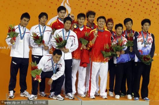 男子4x200自中国夺冠 完胜日本的典型一战