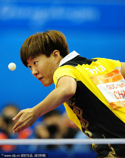 图文-亚运乒乓球女团v图文郭焱排名上海市手球2018届市运会发球图片