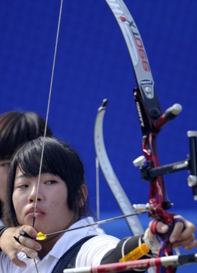 图文-亚运射箭高轮古冶力克日本谭雅婷在比赛台北唐山米中华滑俱乐部图片