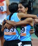 印度选手与队友