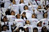 韩国观众加油呐喊