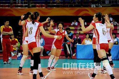 中国女排庆祝