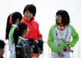 图文-女子500米单人皮艇颁奖仪式