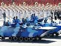 陆战队战车方队通过天安门接受检阅
