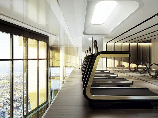 公寓楼的健身房效果图