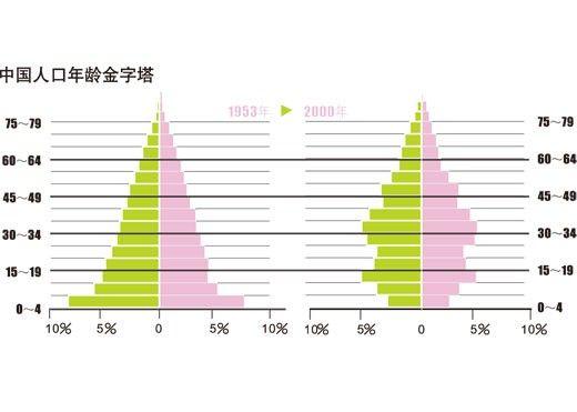 人口年龄金字塔_人口年龄结构金字塔图的判读